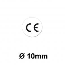 CE Zeichen Ø 10mm weiss