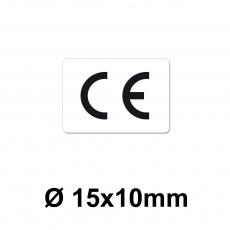 CE Zeichen 15 x 10 mm weiss