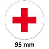 Aufkleber Rotes Kreuz Rund 95 mm