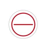 Stromkreis 2-Felder Ø 30mm - rot