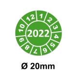 Jahresplaketten Ø 20 mm 2022 Grün
