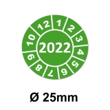 Jahresplaketten Ø 25 mm 2022 Grün