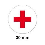 Aufkleber Rotes Kreuz Rund 30mm