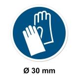 25x Aufkleber M009 Handschutz benutzen