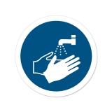 25x Aufkleber M011 Hände waschen