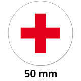 Aufkleber Rotes Kreuz Rund 50mm