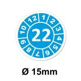 Jahresplaketten Ø 15 mm 2022 Blau