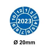 Jahresplaketten Ø 20 mm 2023 Blau