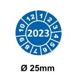Jahresplaketten Ø 25 mm 2023 Blau