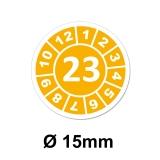 Jahresplaketten Ø 15 mm 2022 Gelb