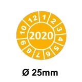 Jahresplaketten Ø 25 mm 2020 Gelb