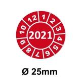 Jahresplaketten Ø 25 mm 2020 Rot