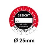 GEEICHT Ø 25mm - rot/schwarz