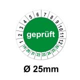 Geprüft Ø 25mm - grün