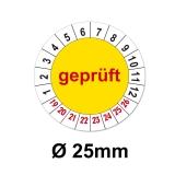 Geprüft Ø 25mm - gelb