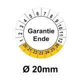 Garantieende Ø 20mm