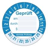 Geprüft + nächste Prüfung Ø 30mm - blau
