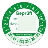 Geprüft + nächste Prüfung Ø 30mm - grün