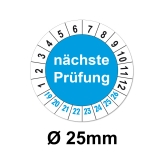 Nächste Prüfung Ø 25mm - blau