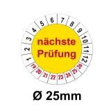 Nächste Prüfung Ø 25mm - gelb