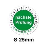 Nächste Prüfung Ø 25mm - grün