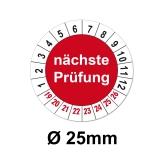 Nächste Prüfung Ø 25mm - rot