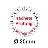 Nächste Prüfung Ø 25mm - weiss