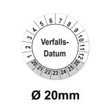 Verfallsdatum Ø 20mm